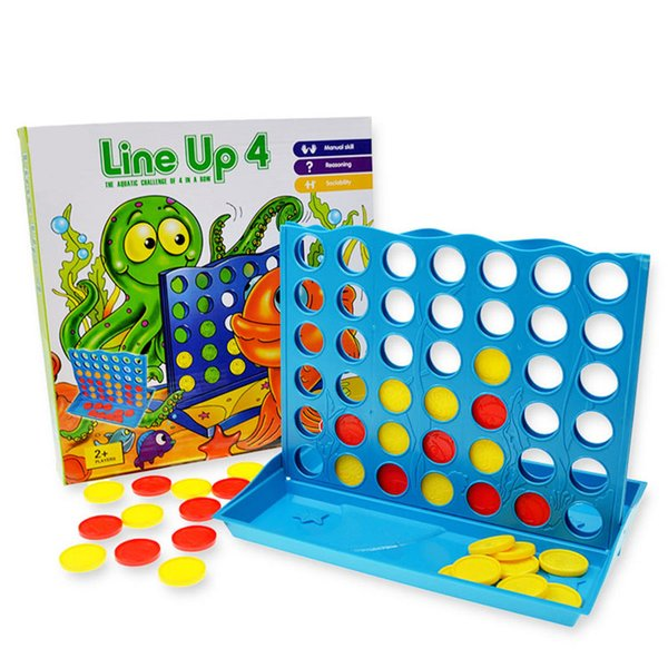connect 4 game Line up 4(Plus) - 2 Players Age 4+ Board games Puzzle games Family Fun Kids game with foldable board a nice Christmas Gift