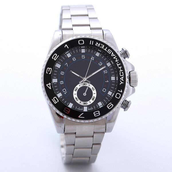 Black Full Steel strap watch Quartz men dress watch Steel Strip Large Dial Men Watches new free shipping Wholesale