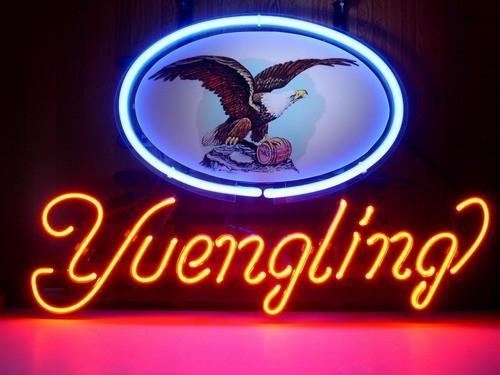 Neon işareti YUENGLING gerçek cam tüp ışık el yapımı bar bira kulübü duvar oyun odasında