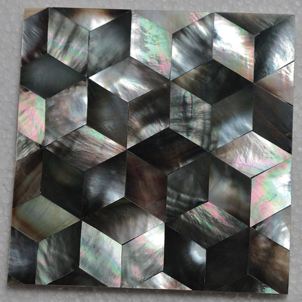 Modèle de cube couleur naturelle mère de nacre coquille mosaïque carreaux de salle de bains salle de bains carrelage dosseret de cuisine carrelage # MS023