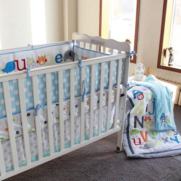 piezas juego de ropa de cama para beb recin nacido cuna manta bordado cartoon elefante