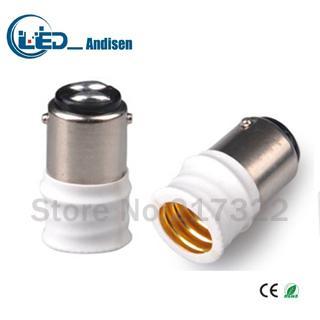 Adattatore BA15D TO E14 Presa di conversione Materiale ignifugo materiale di alta qualità E12 adattatore per portalampada Portalampada