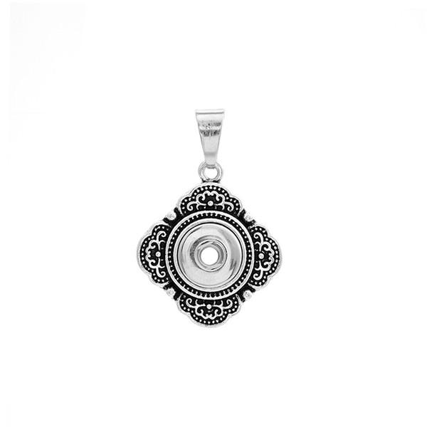 6pcs 2style Silber Kristall Metallknopf schnappt Halskette Anhänger passen 12mm Blumenmuster DIY Ingwer Druckknopf Anhänger für Weihnachtsgeschenk