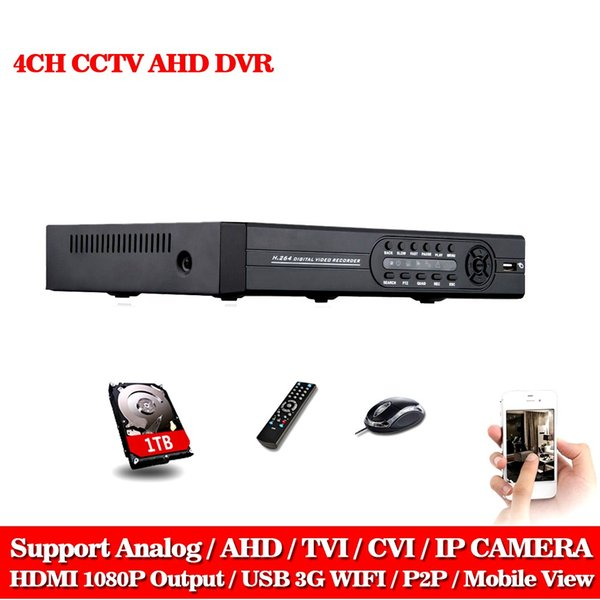 AHD DVR 4CH 1080N CCTV wifi DVR für Heimüberwachung HDMI 1080P Sicherheit Standalone Hybrid DVR NVR ONVIF Digital Video Recorder