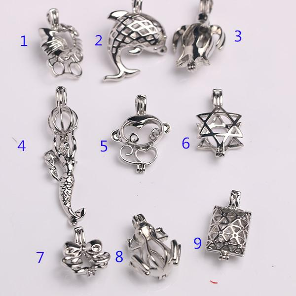 best selling 2018 New Design Wish Pearl Cage Locket Pendant Hollow Out Oyster Pearl Fashion Style as Beautiful DIY Gifts