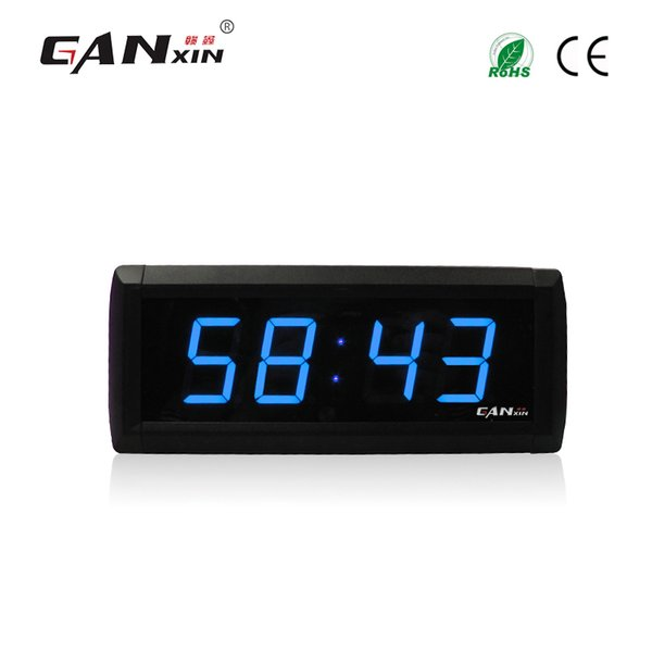 """[Ganxin]Wholesale 1.8"""" Display 4 Digits for Popular High Quality Low Voltage Digital Countdown Clock timer in Blue Tube Wall Clock"""