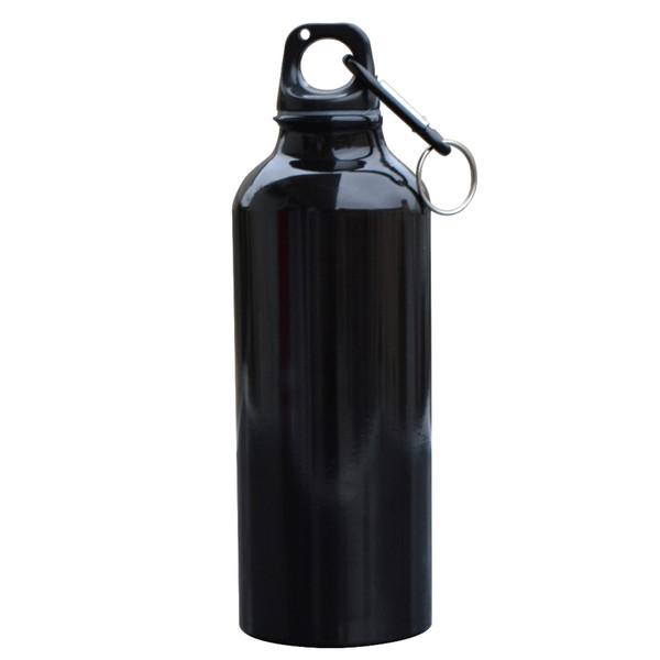500 ml Aleación de aluminio Beber Bebidas Calderas Deportes Camping Senderismo Ciclismo Escalada Bicicleta Mi botella de agua con mosquetón