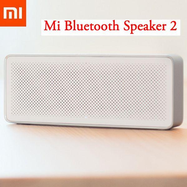 All'ingrosso- Nuovo altoparlante originale Xiaomi Mi Bluetooth 2 Scatola quadrata Stereo portatile ad alta definizione Qualità audio Bluetooth 4.2 Riproduzione musica AUX