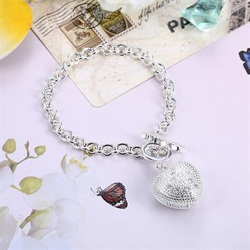 best selling Wholesale - Retail lowest price Christmas gift, free shipping, new 925 silver fashion Bracelet Bh062