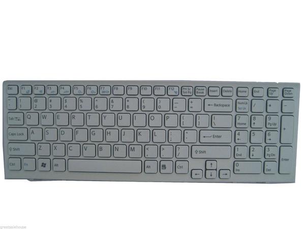 Reemplazo nuevo teclado blanco para SONY Vaio 148969211 con marco Laptop US