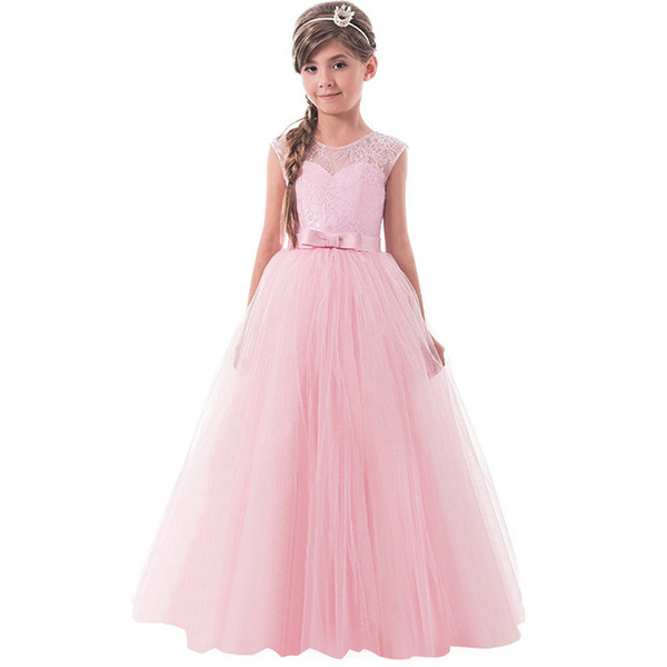 Venta al por mayor Baby Girl Lace Dress Vestidos de boda de fiesta ...