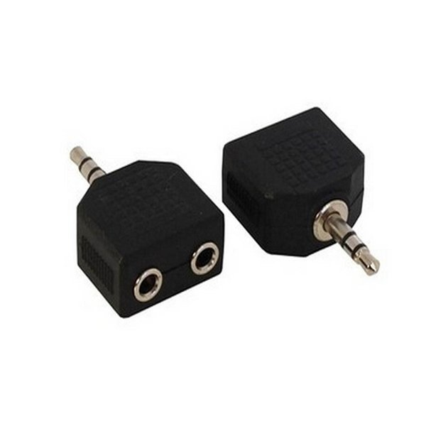 best selling 3.5mm 1 Male to 2 Female Audio Headphone Splitter Adpater For Earphone Headset Converting Connector Splitter Headphone 600pcs