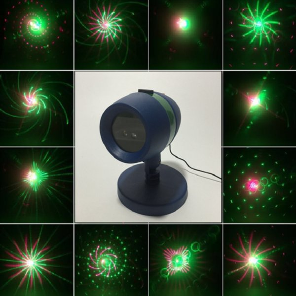 Patterns Laser star Lights Projector Showers Park Garden Lamp Red Green motion Laser light Outdoor Garden Christmas Decorations