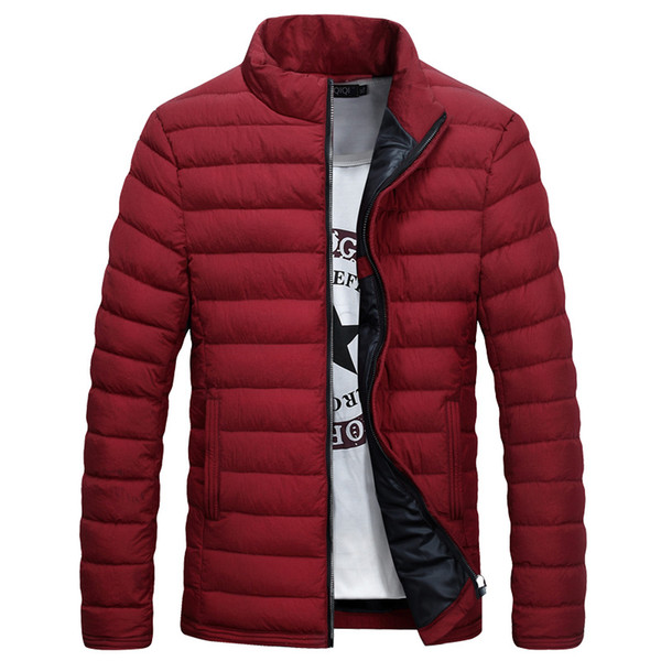 Acheter Doudoune Homme Hiver 2016 New Fashion Slim Fit Col Montant Slim Wave Coupe Coton Veste En Gros De $61.2 Du Honhui | DHgate.Com