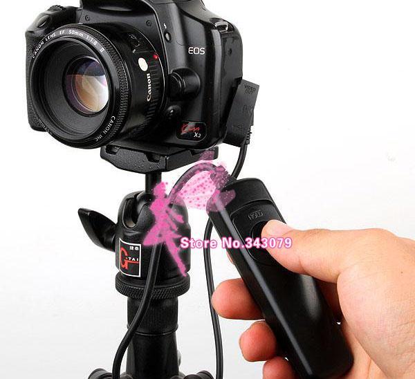 Großhandel-Kamera-Fernbedienung RS-60E3 für SLR-Kamera 60d 400d 450d 500d 550d 600d 650d 700d 1000d G11 G12 K200D Shutter Zubehör