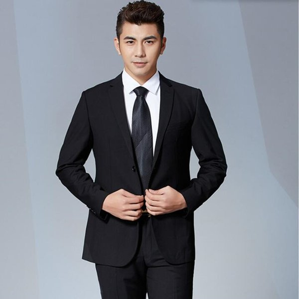 Senior custom men's suit stylish elegance groom wedding dress suits slim fit business suits formal occasion(jacket+vest+pants)