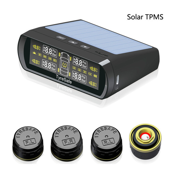 New arrival Tyresafe TP400 CAR TPMS with Colorful Solar Auto charged Display mini external sensors can show Pressure and Temperature