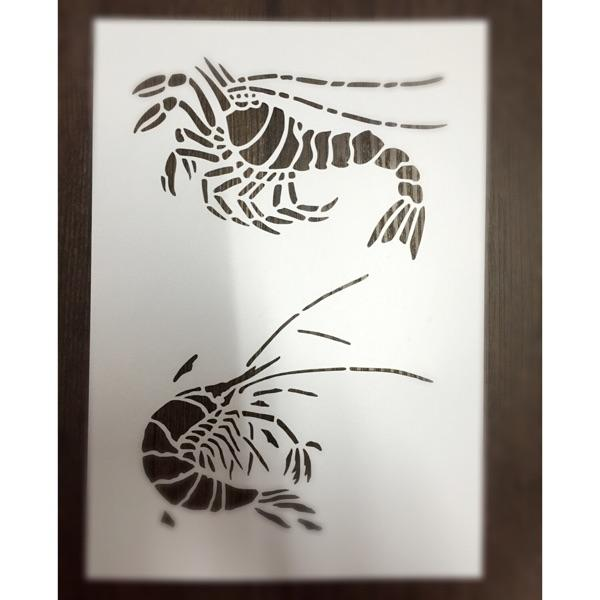 Cheao Painting stencils for bathroom Masking template For Scrapbooking,cardmaking,painting,DIY cards-The river shrimp 316