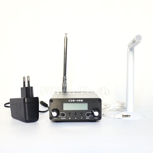 Ant Kit 0.1//0.5W CZE-05B FM transmitter stereo pll radio broadcast Metal