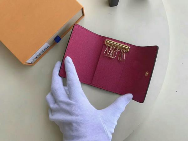 Freie Verschiffenspiegelqualität mit Datumscode Berühmte nagelneue Frauenmannklassiker 6 Schlüsselhalterabdeckung mit box.dust Tasche, Kartenschlüsselring