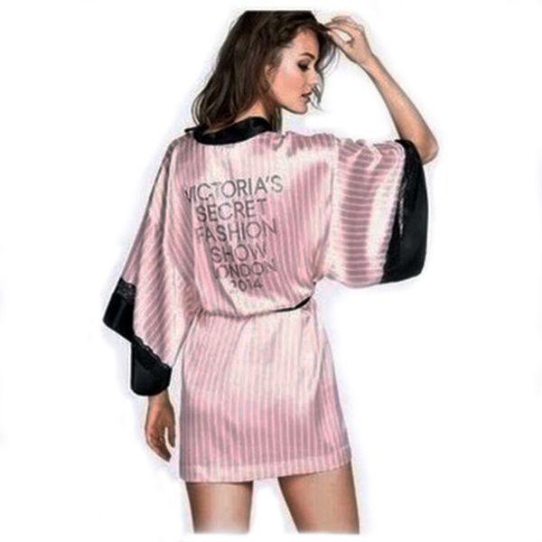 Modèles de passerelle pyjamas femmes strass sexy pyjamas de soie survêtement dentelle chemise de nuit chemise de nuit deux pièces robe LUCKY A0008