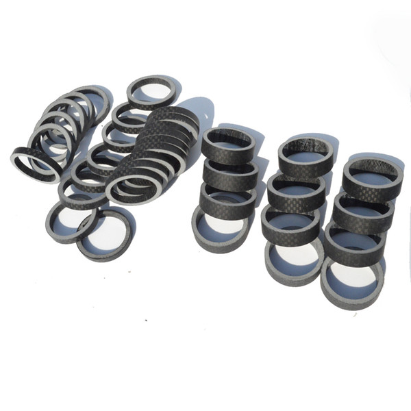 50pcs/lot Road bike 3K carbon fibre headset washer Mountain bicycle headset carbon washer stem spacers MTB parts 5/10/15/20mm wholesales