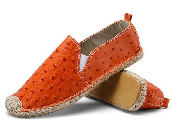 Novo Design Primavera Outono Sapatas Das Senhoras Apartamentos Dedo Do Dedo Do Pé Redondo corda de Cânhamo Sapatos Casuais Lona Sapato Das Mulheres Slip-on Loafers Homens Zapatos Mujer