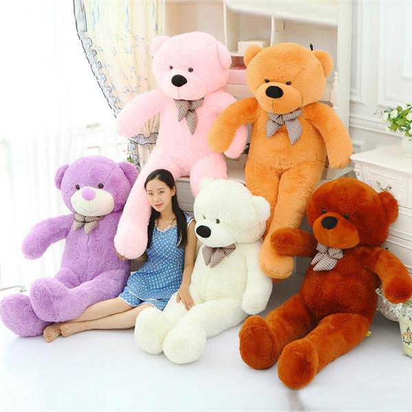 "hot sale new 6.3 FEET TEDDY BEAR STUFFED LIGHT BROWN GIANT JUMBO 72"" size:160cm birthday gift"