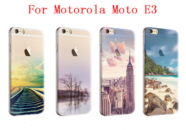 new styles c5b68 523d9 Scenery Series Phone Case For Motorola Moto E3 Motorola Moto E 3rd Gen.  High Quality Painted TPU Soft Silicone Skin Back Cover Leather Phone Cases  ...