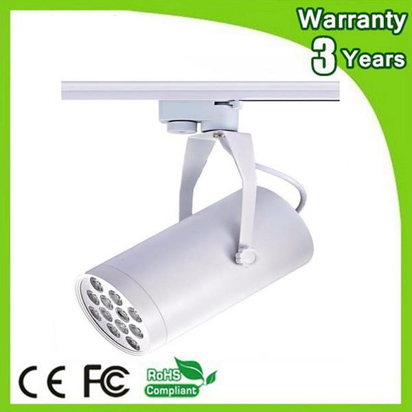 (50PCS / Lot) Chip di Epistar 3 anni di garanzia CE RoHS Dimmable LED Track Light 12W Spot Lampadina Spotlight Rail Lamp Housing spesso