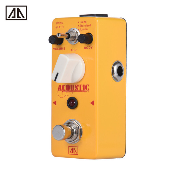 AROMA AAS-5 Acoustic Guitar Simulator Effect Pedal 2 Modes Aluminum Alloy Body True Bypass Guitar Parts & Accessories