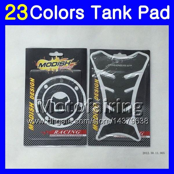 23Colors 3D Carbon Fiber Gas Tank Pad Protector For HONDA CBR600F4i 01 02 03 01-03 CBR600 F4i CBR 600 F4i 2001 2002 2003 3D Tank Cap Sticker