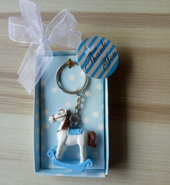 Baby Shower Keychain favors Trojan Baptism Girl boy keyrings gifts Party Supplies Favors Gifts For Guest Free Shipping 50pcs lot