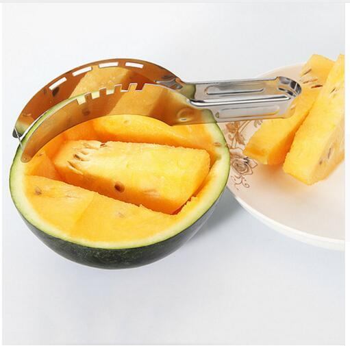 top popular Stainless Steel Watermelon Slicer Fruit Melon Cutter Corer Scoop Household Kitchen Tool Utensils Slicy DHL Free Shipping 2020