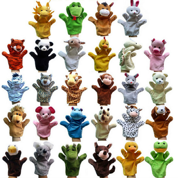 2016 Hot Products Jungle Book props 0-24 months Baby toys Animal hand puppet Lions,tigers,ducks,monkeys,giraffes,rabbits,Koala