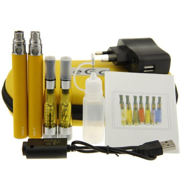 CE4+ plus eGo Starter Kit eGo Zipper case Double Kit E-Cigarette kit with CE4+ Atomizer eGo T Battery 650mah 900mah 1100mah Free Shipping