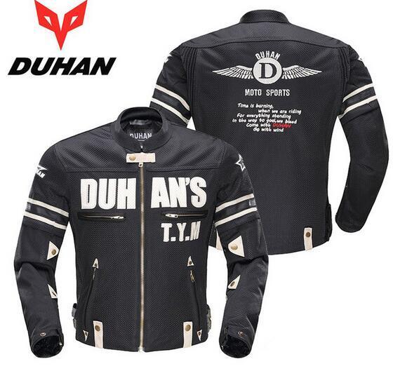 Duhan respirável verão malha motociclista jaqueta motociclista motocicleta harley helicóptero jaqueta leve dos homens roupas de corrida