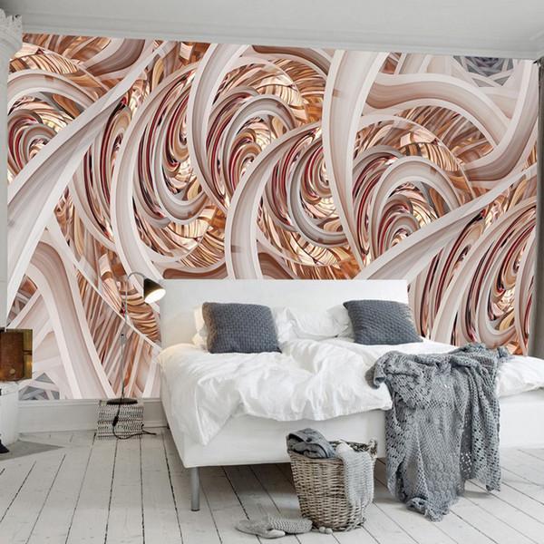 3d Geometry Wall Mural Abstract Lines Wallpaper 3d 5d Wallpaper Geometric Construction Bedroom Living Room Ceiling Hotel Art Room Decor Cool Nature