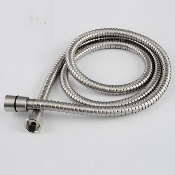 top popular Sanitary Products 304 Stainless Steel Wire Drawing Water Penetration Hand Shower Hose Leak Proof Explosion-Proof 1.5 Meters Long 2019