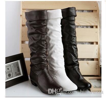 Haute Qualité Automne Chaussures Bottes De Neige D'hiver Pour La Mode Femmes Bottes Au Genou Pu Slip on Waterproof