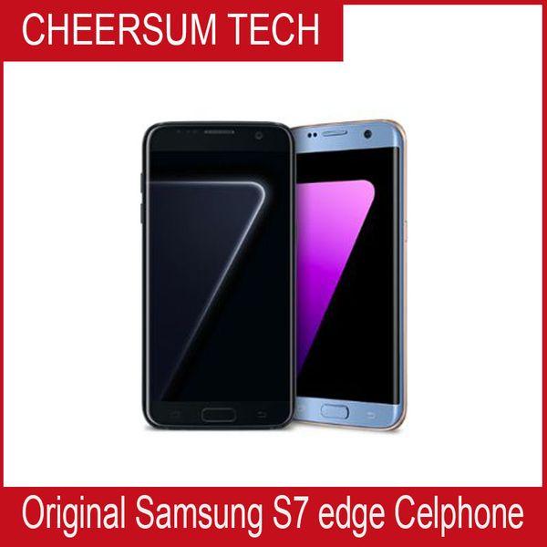 Refurbished Original Samsung Galaxy S7 Edge G935A G935T G935V G935P Unlocked Cell Phone 5.5 Octa Core 4GB/32GB 12MP 4G LTE Unlocked free DHL