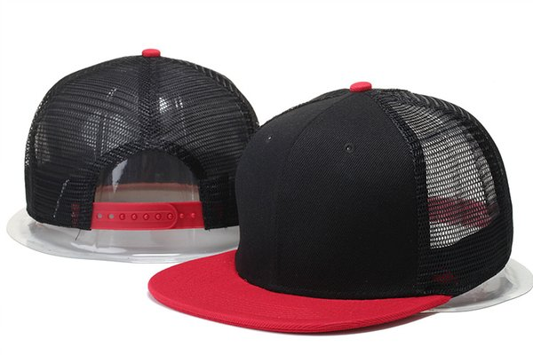 2018 Hot new cheap blank mesh snapback hats & caps for men women casquttes bones baseball caps homme gorro sun hats solid cap