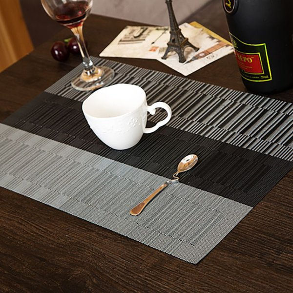 Wholesale- 4Pcs Adiabatic Placemat Mat Heat Home USing Stain Protector Dining Table Mat Decor