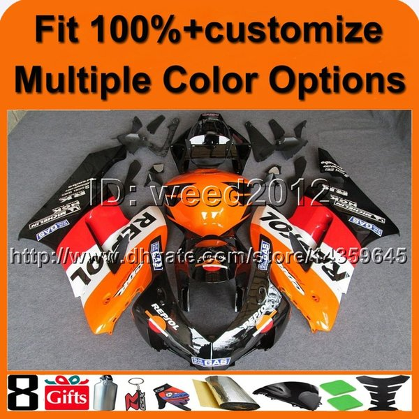 23colors+8Gifts REPSOL motorcycle cowl for HONDA CBR1000RR 2004-2005 CBR1000RR 04 05 ABS Plastic Fairing