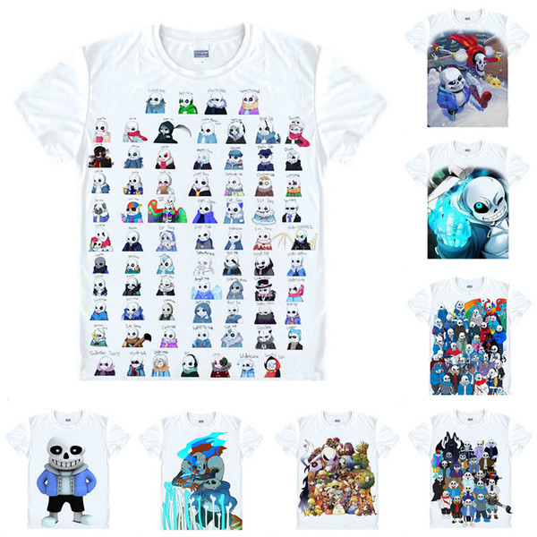 Anime Shirt Toby Fox Undertale T-Shirts Multi-style Short Sleeve Sans and Papyrus Cosplay Motivs Hentai Shirts