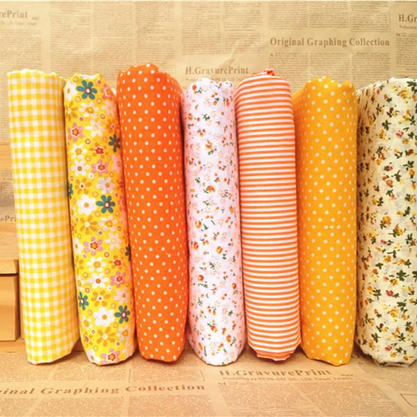 7PCs/set 25x25cm DIY Patchwork Handmade Fabrics For Sewing Cotton Fabric Quilting Fabric For Needlework Felt