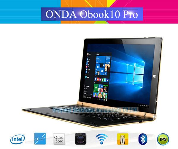 Wholesale- Original Onda Obook 10 Pro Obook10 Pro Windows10 Tablet PC 10.1'' IPS 1920*1200 IntelCherry-Trail Atom X7-Z8700 4G Ram 64G Rom