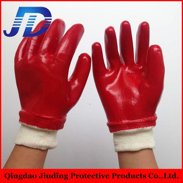 top popular china direct import red oil and gas resistant water proof leather working gloves with glove manufacturer 2019