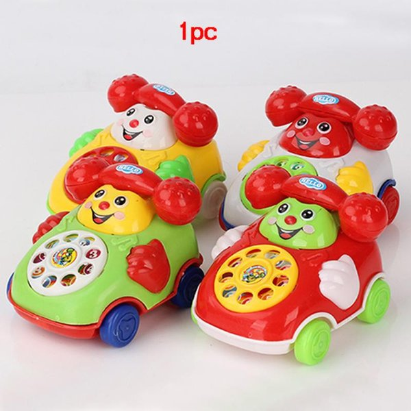 Wholesale- New Arrival Baby Cute Smile Face Telephone Toys Plastic ...