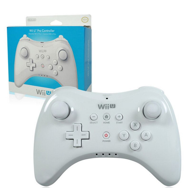 top popular WUP-005 Dual Analog Bluetooth Wireless Remote Controller USB WII U Pro Game Gaming Gamepad for for Nintendo Wii U WiiU White Black Wholsale 2020